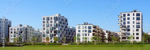 Photographie  Panorama einer neuen Wohnanlage in München