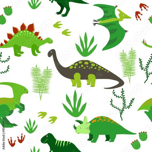 powtarzajacy-sie-wzor-z-dinozaurow-na-bialym-tle