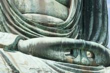 The Hand Of Great Buddha Daibutsu In Kamakura, Japan