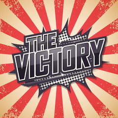 Retro poster, The Victory, Vector illustration.