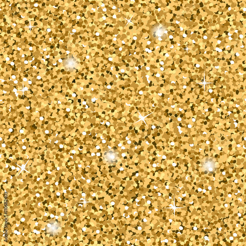 Gold Glitter Texture Seamless Sequins Pattern Lights And Sparkles Gorgeous Glitter Pattern