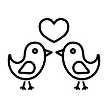 Love Birds Couple Heart Valent...