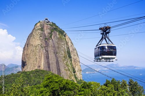 Cable car at Sugar Loaf mountain in Rio de Janeiro, Brazil.