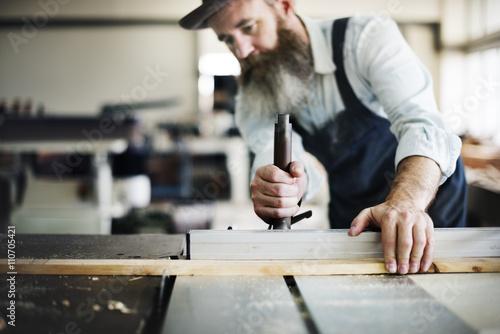 Fotografia  Handyman Occupation Craftsmanship Carpentry Concept