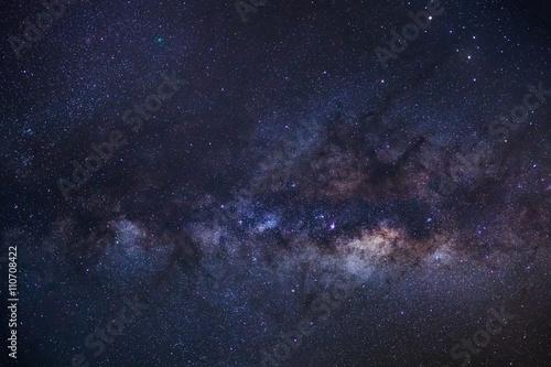 In de dag Heelal Close-up of Milky Way Galaxy,Long exposure photograph, with grai