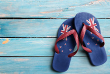 Thongs With Flag Of New Zealan...
