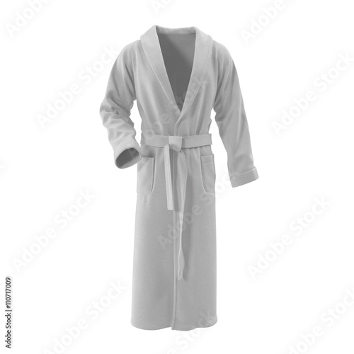 Fotografie, Obraz  white bathrobe. isolated on white. 3D Illustration