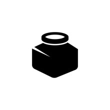 Vector Black Inkwell Icons Set