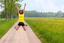 Energetic Agile Young Woman Le...