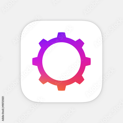 Gear Or Cog Icon Template Mobile Lication Vector Colorful Photo