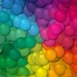 full colors spectrum rainbow little balls pattern background
