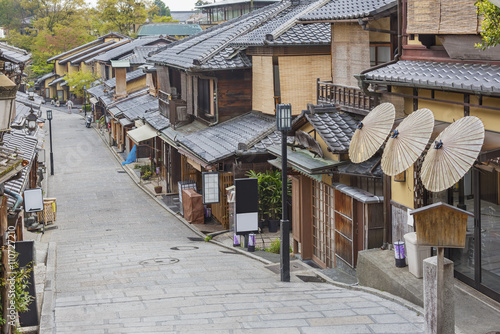 Historical Sannen Zaka Street in Kyoto, Japan