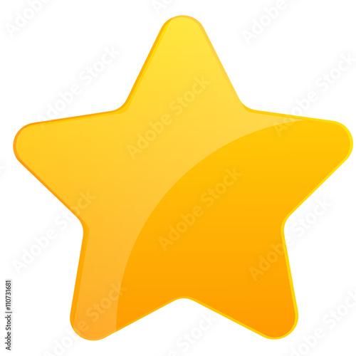Photo Goldener Stern mit Schimmer auf der Oberfläche