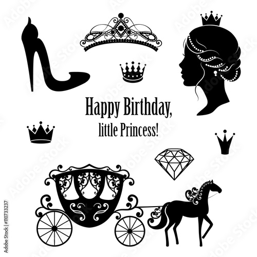 Fotografie, Obraz  Princess Cinderella set collections.