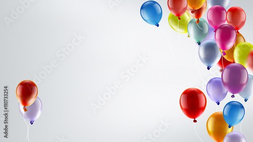 Deurstickers Ballon festive background with balloons