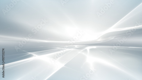 Foto op Aluminium Fractal waves white futuristic background