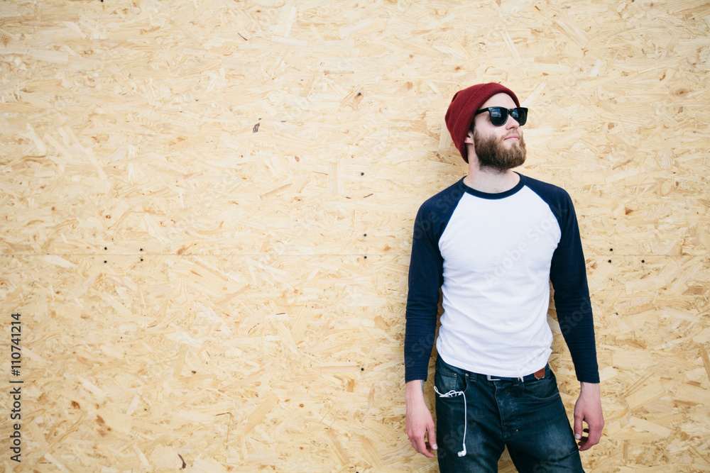 Fototapeta hipster man wearing glasses