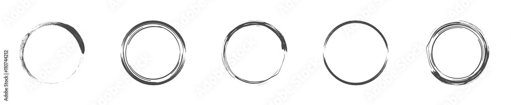 Fototapety, obrazy: Round decorative circle collection