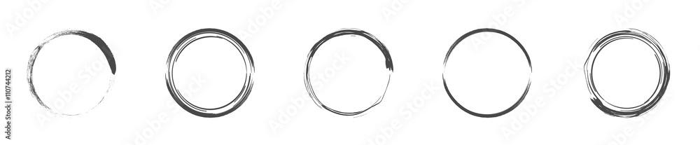 Fototapeta Round decorative circle collection