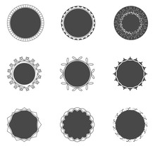 Collection Of Filled Circles W...