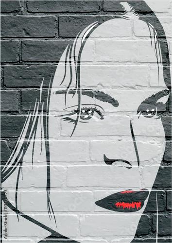 Photo Art urbain, portrait d'une jeune femme
