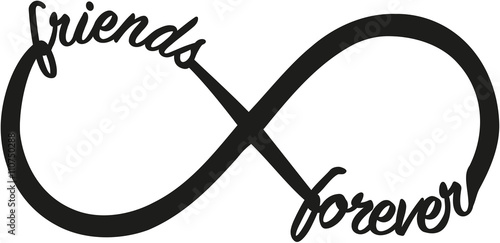 Fotografie, Obraz  Infinity sign with friends forever