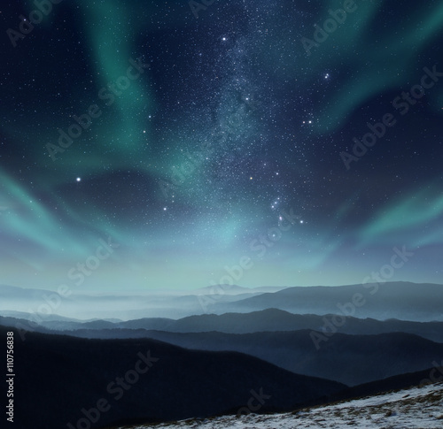Foto op Canvas Nacht Polar night