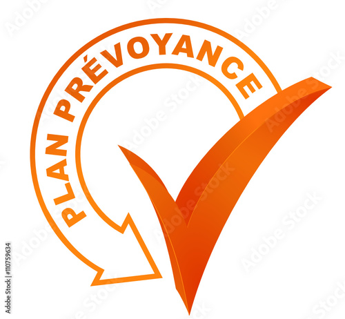 plan prévoyance sur symbole validé orange Tapéta, Fotótapéta