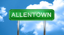 Allentown Vintage Green Road Sign With Highlights