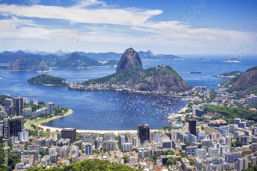 In de dag Rio de Janeiro Sugar Loaf Mountain in Rio de Janeiro, Brazil.