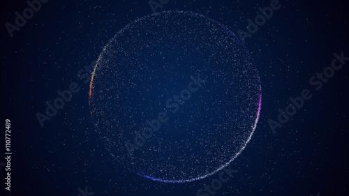 Obraz na płótnie Abstrakcyjne tło z okrągłym kształcie utworzonym z małych cząstek