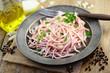 Teller Salat Wurst