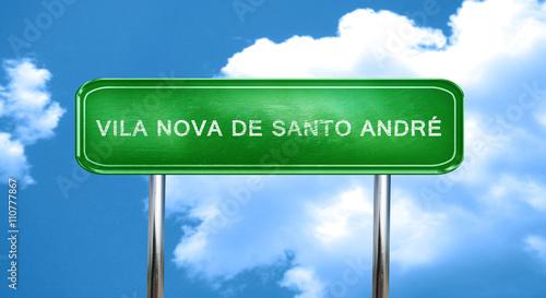 Vila nova de santo andre vintage green road sign with highlights Wallpaper Mural