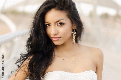 Fényképezés  Beautiful exotic young woman with long hair