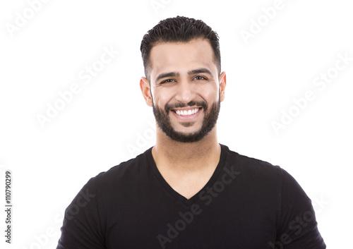 Fotografie, Obraz  Neformální muž na bílém