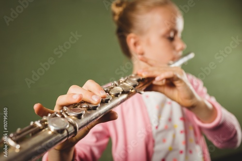 Girl playing the flute