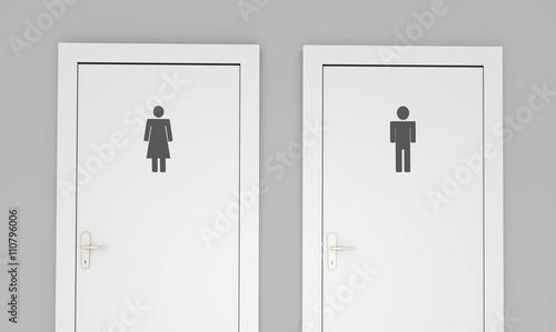 Fotografia  Public restroom doors