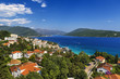 "Montenegro. Herceg Novi - general view from ""Kanli Kula"" fortress. The town located at the entrance to beautiful Bay of Kotor (Boka Kotorska)"