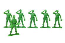 Green Plastic Military Toys