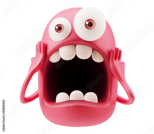 scary emoji cartoon 3d rendering buy this stock illustration and