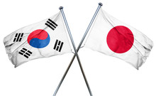South Korea Flag  Combined Wit...