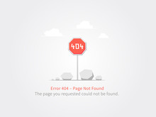 Error 404 Page Layout Vector Design. Website 404 Page Creative Concept. 404 Web Page Error Creative Design. Modern 404 Page Not Found Concept.