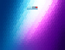Abstract Geometric Background In Blue And Purple