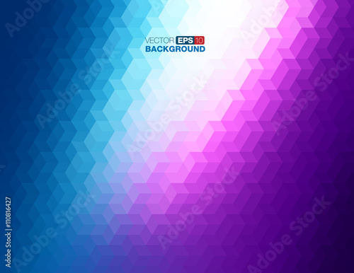 Valokuva  Abstract Geometric Background in Blue and Purple