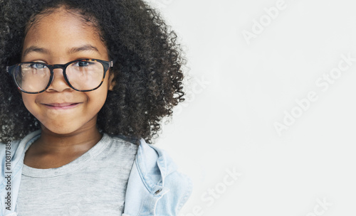 African Girl Smling Fun Happiness Retro Concept