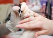 Manicure. Nail polishing.