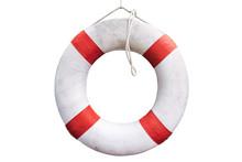 White Lifesaving Float On White Background