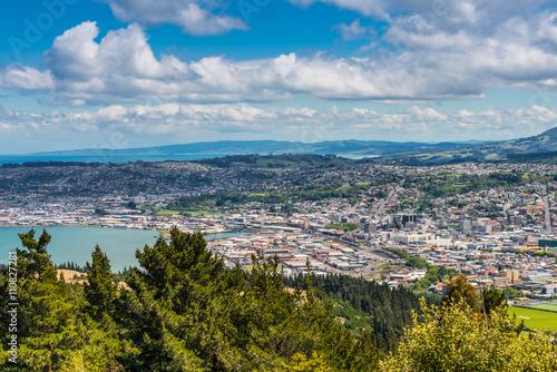 Dunedin seen from the peak of Signal Hill, New Zealand Canvas Print