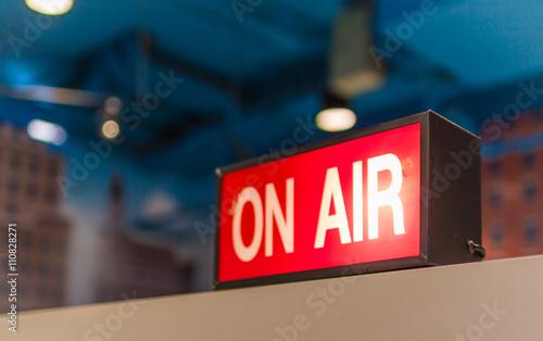 Photo  Studio, live, broadcast, on air.