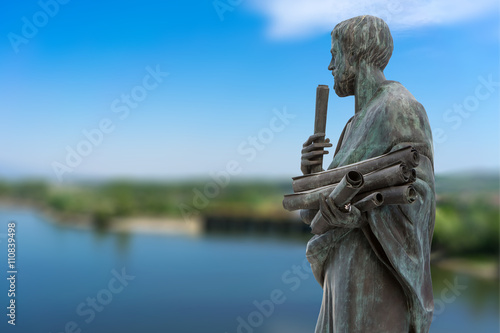 Fotomural Statue of Aristotle a great greek philosopher